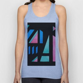 Colorful abstract geometric shapes composition Unisex Tank Top