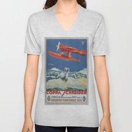 Vintage poster - Coppa Schneider Unisex V-Neck