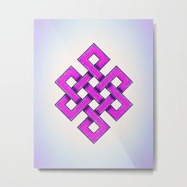 Endless Knot Purple Metal Print
