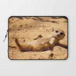 Meerkat Suricat suricatta Sunbathing #decor #society6 Laptop Sleeve