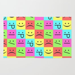 Smiley Chess Board Rug