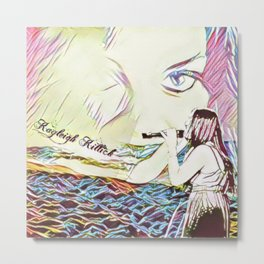 Angelic Kayleigh by The Sea Metal Print