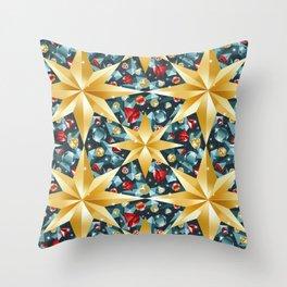 christmas stars pattern Throw Pillow
