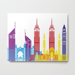Dubai skyline pop Metal Print