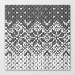 Winter knitted pattern 8 Canvas Print