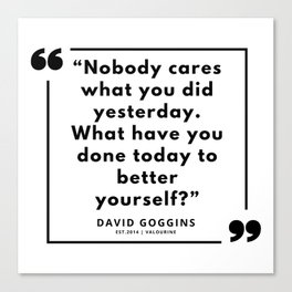 69  | David Goggins Quotes | 190901 Canvas Print