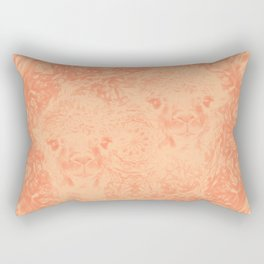 Ghostly alpacas with mandala in peach echo Rectangular Pillow