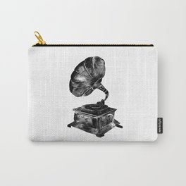 GRAMOPHONE, black and white Carry-All Pouch