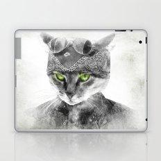 Biker Cat Laptop & iPad Skin