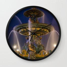 Fountain place de la Concorde Paris Wall Clock