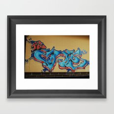 Blue & Yellow Framed Art Print