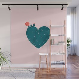 Cactus thorny heart Wall Mural