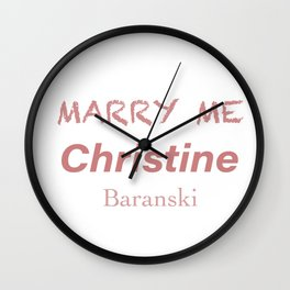 Queen Christine Baranski Wall Clock