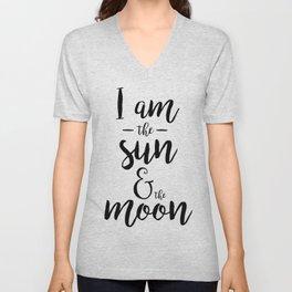 I am the Sun & the Moon Unisex V-Neck