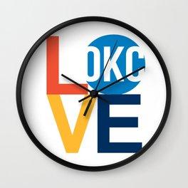 OKC Thunder LOVE  Wall Clock