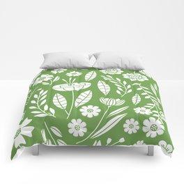 Blooming Field - green Comforters