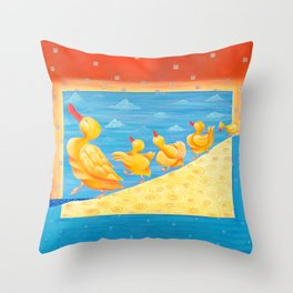 Dancing Quacks - Happy Dancing Quacks Family Throw Pillow
