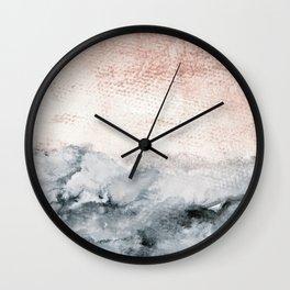 pastel landscape Wall Clock