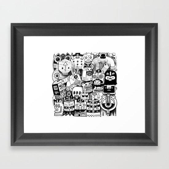jour d'ironie au pays des masques Framed Art Print