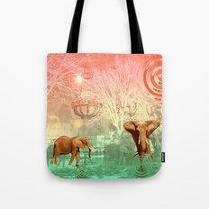 Elephants in the Ballroom Tote Bag
