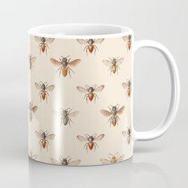 Vintage Bee Illustration Pattern Coffee Mug