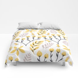 Yellow Flowers Comforters