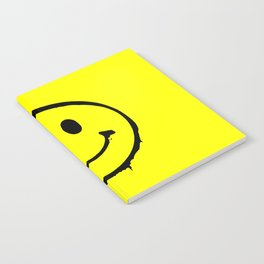 smiley face rave music logo Notebook