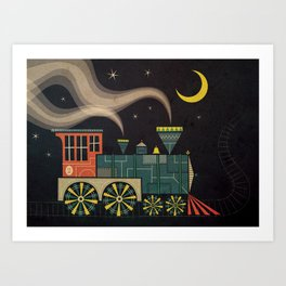 Midnite ChooChoo Art Print