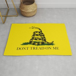 Gadsden Don't Tread On Me Flag Rug