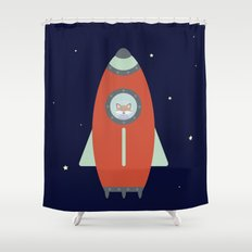 Fox Rocket Shower Curtain