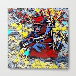 Color Kick - Gorilla Baby Metal Print