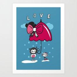 Brolly love Art Print