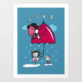 Brolly love Art Print