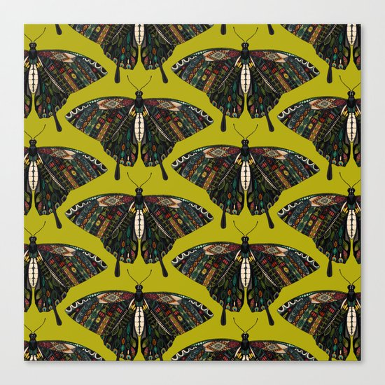 swallowtail butterfly citron Canvas Print
