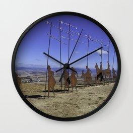 Alto de Perdon, Pilgrim Statue Wall Clock