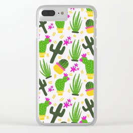 Cactus Pattern of Succulents Clear iPhone Case