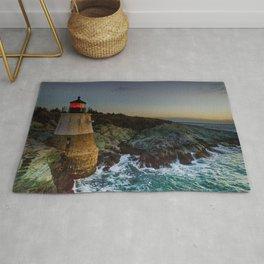 Castle Hill Lighthouse - Newport, Rhode Island Rug