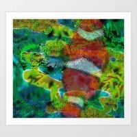 scuba Art Prints featuring Scuba by DARWIN STEAD