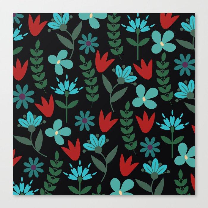 Flower Pattern XV Canvas Print
