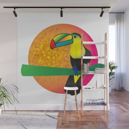 Toucan - White Wall Mural