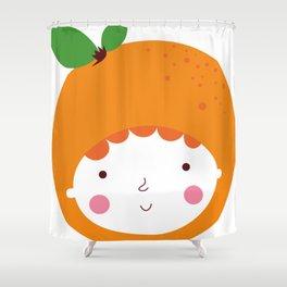 Lovely Orange Shower Curtain