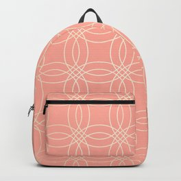Simply Vintage Link in White Gold Sands and Salmon Pink Backpack