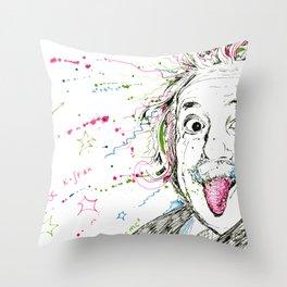 Einstein! Throw Pillow
