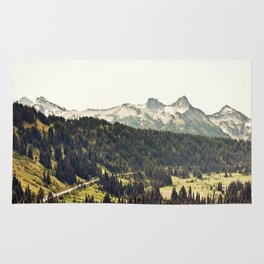 Epic Drive through the Mountains Rug