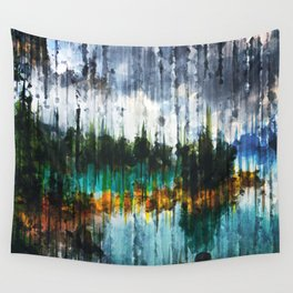 Abstract Mountain Lake Wall Tapestry