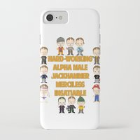 dwight iPhone & iPod Cases featuring Dwight Schrute Two Words by Alex Dutton