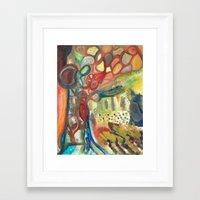 sasquatch Framed Art Prints featuring Sasquatch by Dena Nord