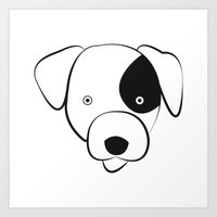 jack russell Art Prints featuring Jack Russell by anabelledubois