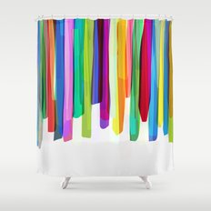 Colorful Stripes 2 Shower Curtain