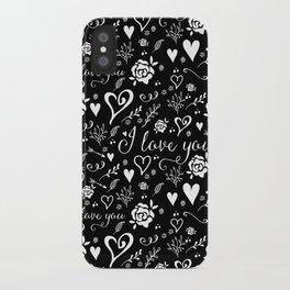 Black love iPhone Case